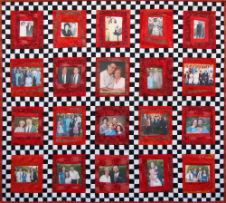 Customized Memory Art Quilt. W: 46.5 in x H: 42 in. 2013