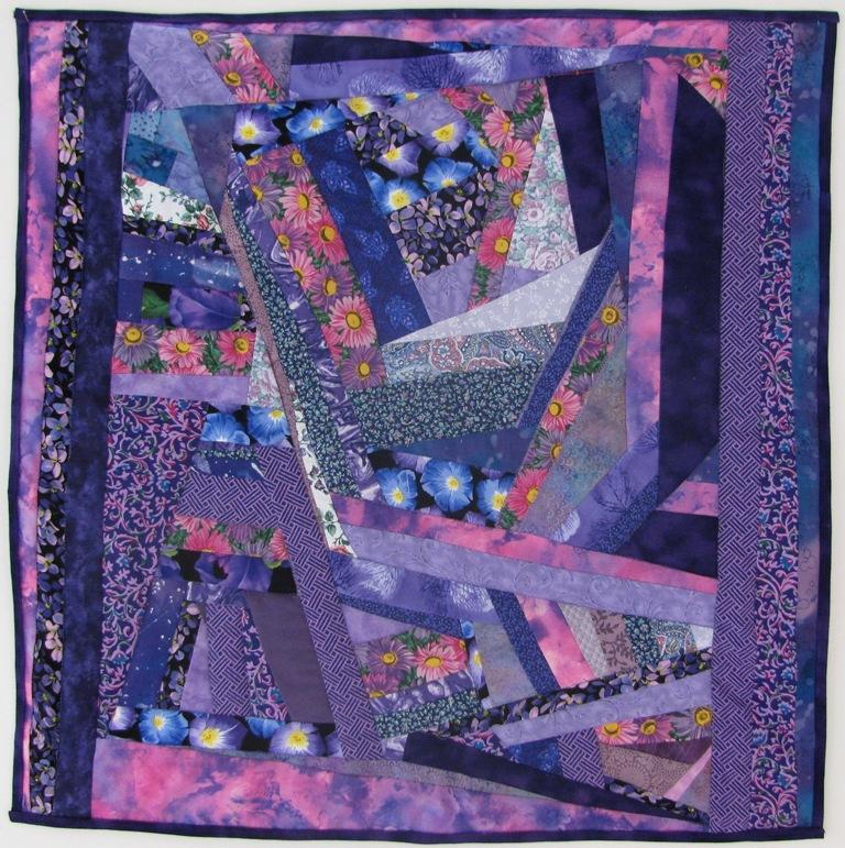 purple crazy quilt
