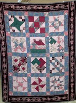 Sampler bed quilt