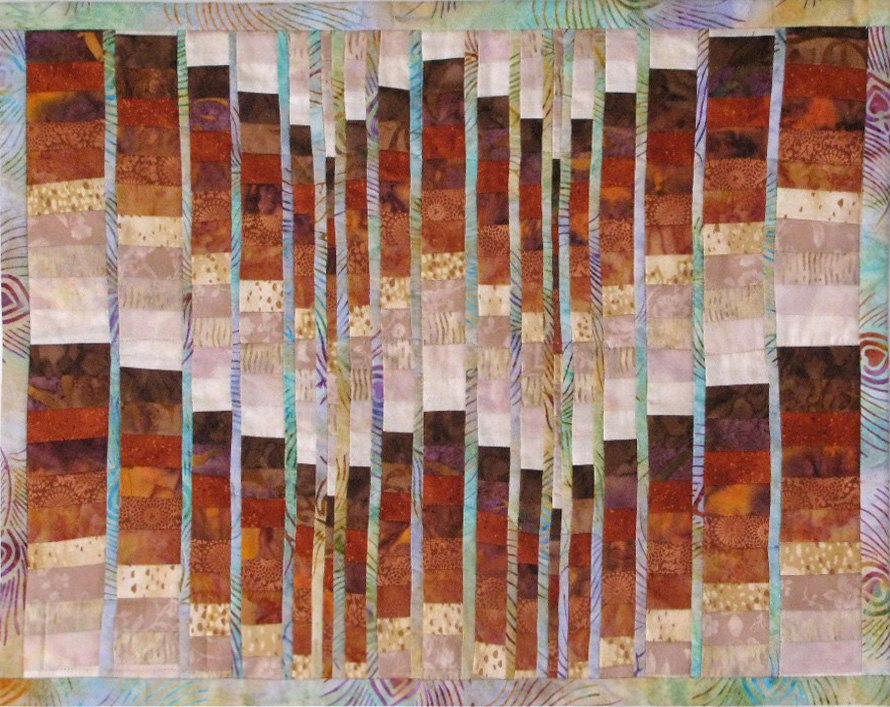 Earth Tone Bargello Art Quilt