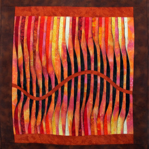 Waves of Fire art quilt