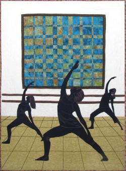 Studio Dancers fabric art