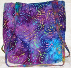 Purple batik tote