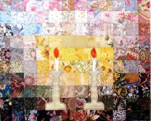 Watercolor motif challah cover