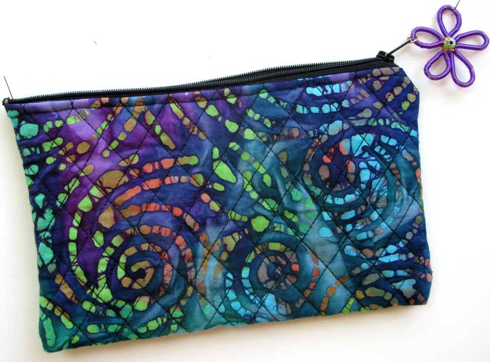 Purple-turquoise cosmetic bag