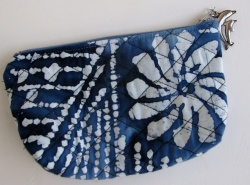 Blue-white cosmetic bag