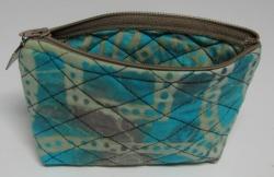 Aqua cosmetic bag