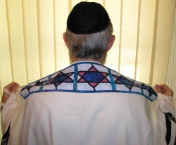 Tallit with collar