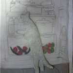 cat in fridge tracing