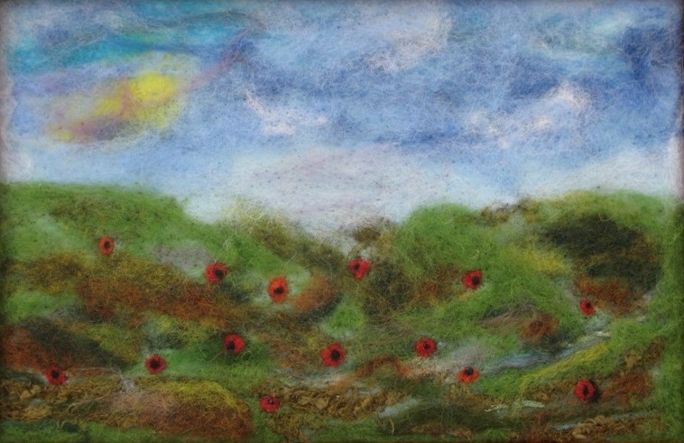 Needle Felted Wall Art Cindyrquilts