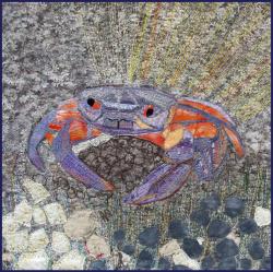 Crab art quilt