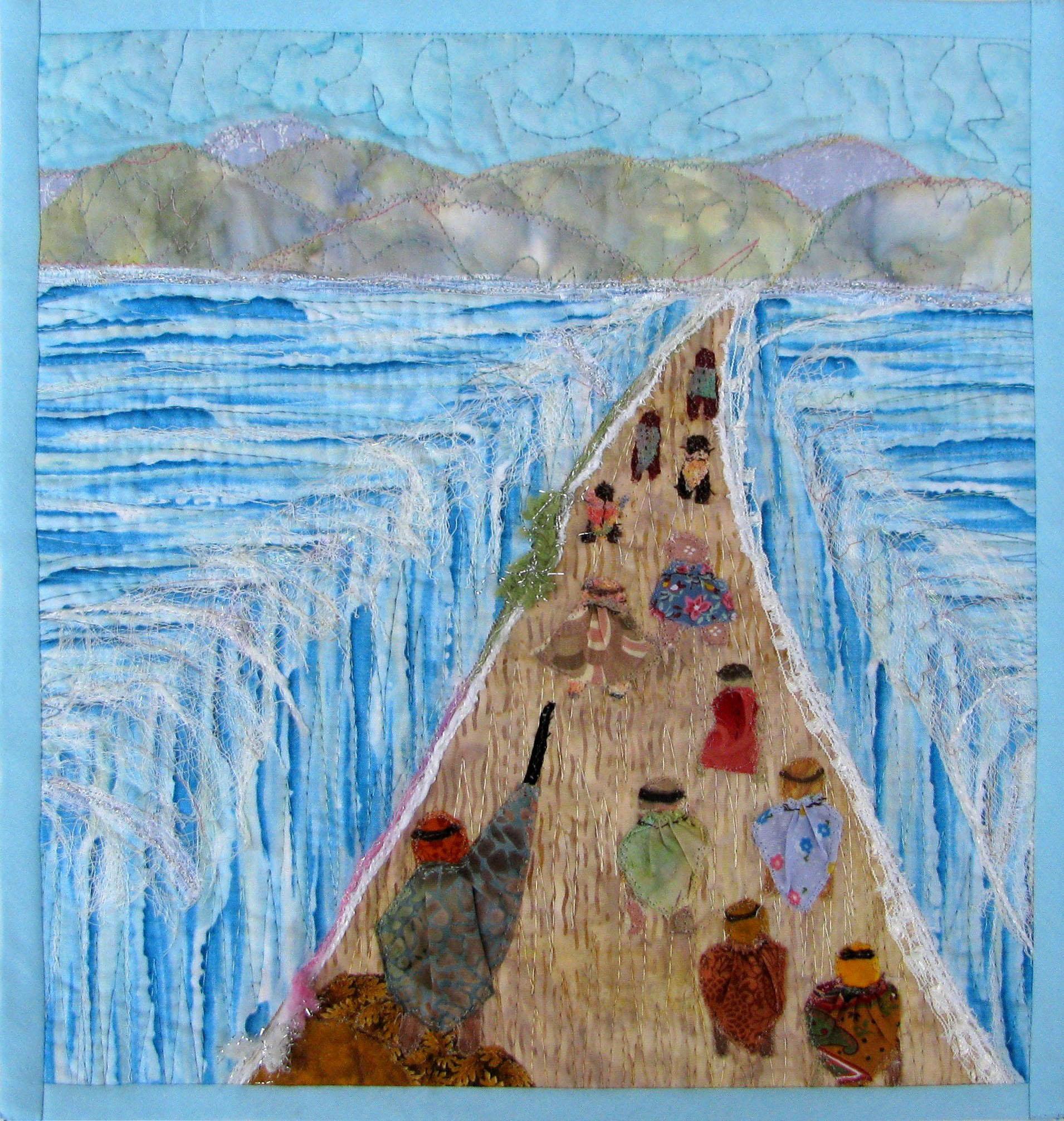 Dividng the sea matzah cover