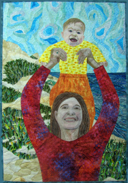 New Life in an Old Land quilt art