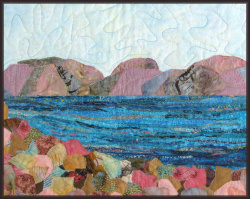 Sea of Galilee 2 art quilt