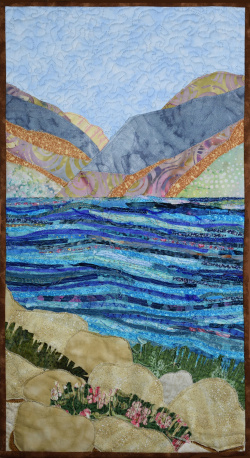 Shores of the Sea of Galilee fabric art