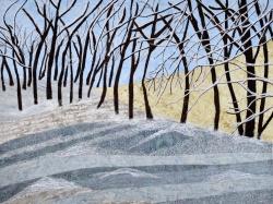 Winter scene of snowy trees