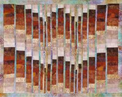 Earth Tone Bargello Art Quilt