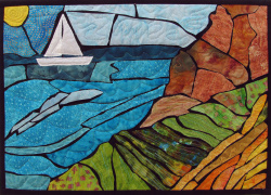 Sailing at Apollonia quilt art