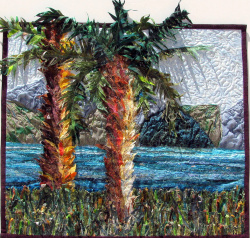 Kinneret - Sea of Galilee fabric art