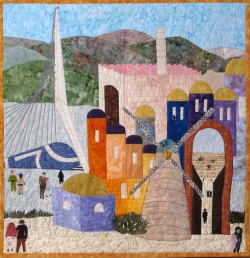 Jerusalem Old and New quilt art