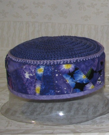 Purple Crazy-Quilted Hat