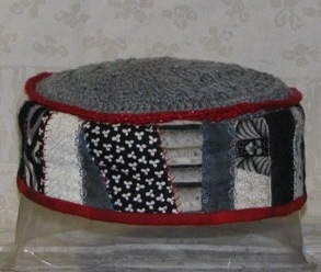 Black-White Crazy-Quilted Hat