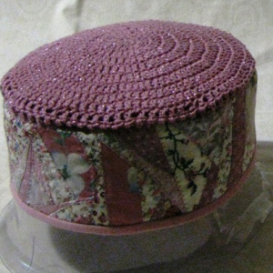 Pink Crazy-Quilted Hat