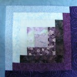 Log cabin block for Quiltsy quilt
