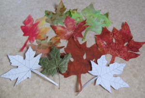 Fabric Maple leaves
