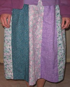 Pieced Panel Skirt