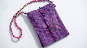 Child's Shoulder bag with butterfly
