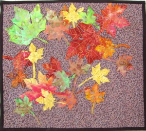 Maple leaves mini-quilt