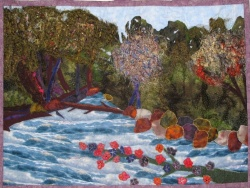 Along the Jordan River fabric art