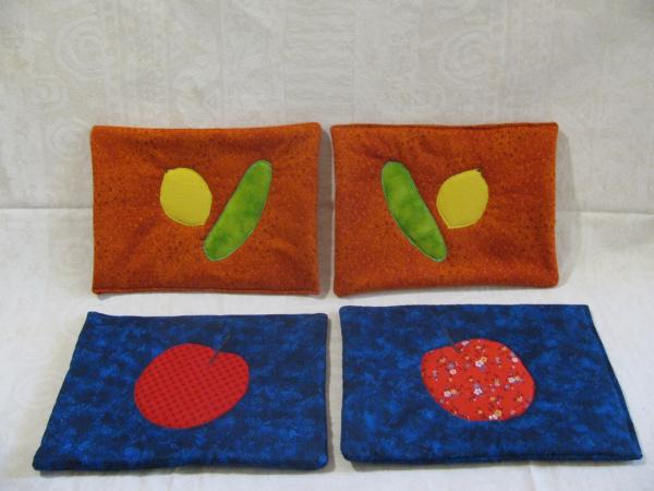 Fruit applique potholder