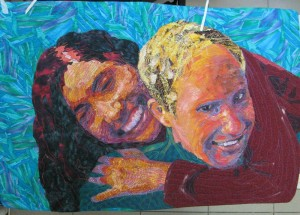 quilted portrait