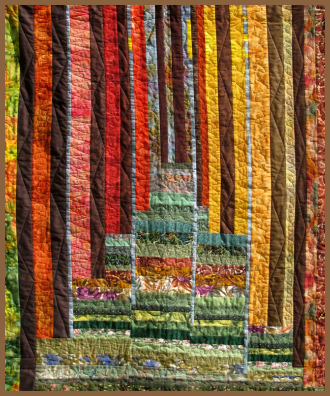 How I enlarged a 3-dimensional art quilt wall hanging design ...