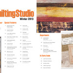 Table of contents of Art Quilting Studio magazine