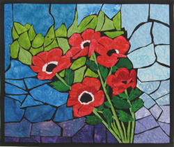 Holy Land Poppies quilt art
