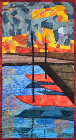 Jaffa Harbor fabric art