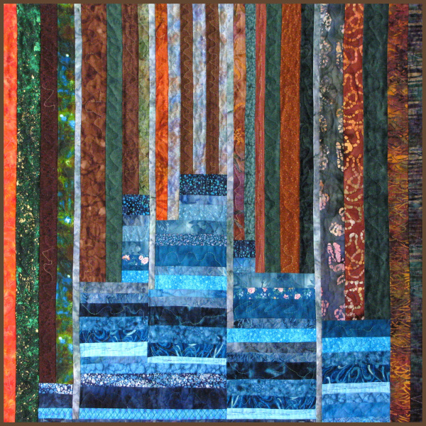 By the Lake art quilt