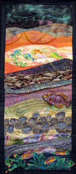 Fishscape under the Sea quilt art
