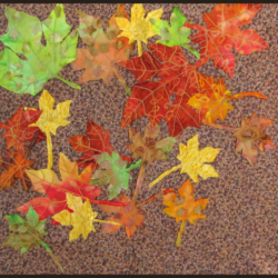 Maple Leaves art quilt