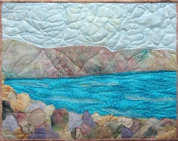 Sea of Galilee 1 art quilt