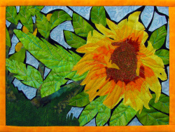 Sunflower quilt art