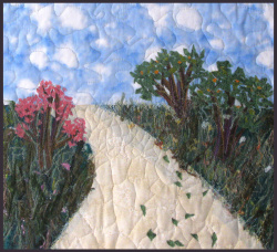 Windy Path fabric art