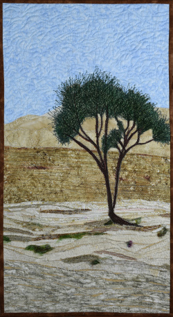 Lonely Tree in the Negev fabric art