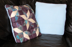 Purple Quillow Fleece Blanket