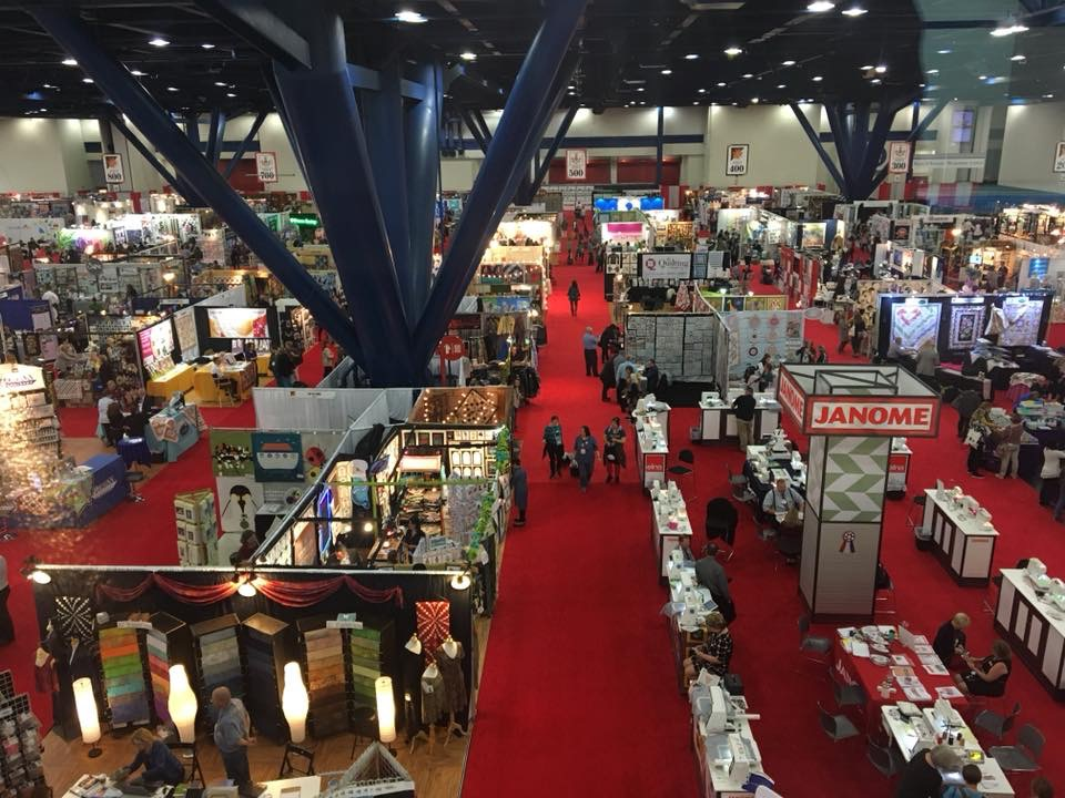 Vendor booths at Houston Quilt festival 2017