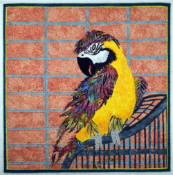 Parrot fabric art
