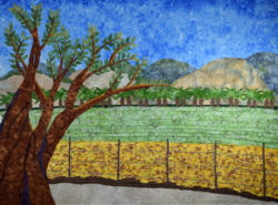 Fields of Mount Gilboa fabric art